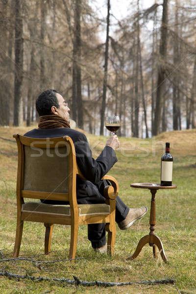 Bizarre élégante expert sauvage homme boissons Photo stock © alexandre_zveiger