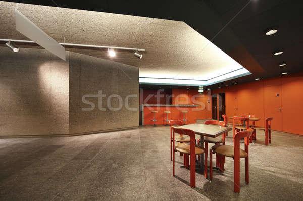 Elegancki podziemnych bar czerwony ściany konkretnych Zdjęcia stock © alexandre_zveiger