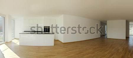 Moderno apartamento projeto sótão arquitetura sala de estar Foto stock © alexandre_zveiger