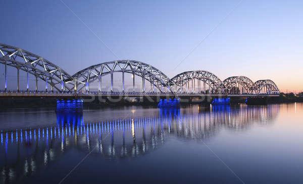 Hermosa puente Riga arquitectónico mar ciudad Foto stock © alexandre_zveiger