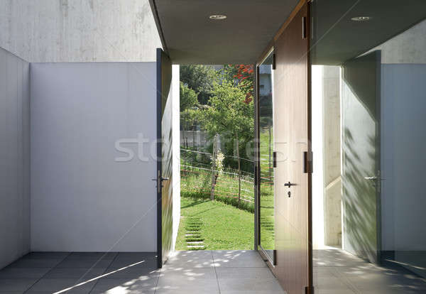 Entrance of modern style villa Stock photo © alexandre_zveiger