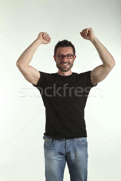 Photo studio man portrait over white background Stock photo © alexandre_zveiger