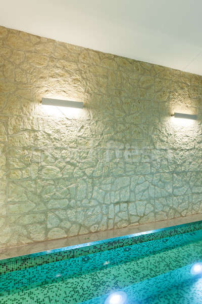 Interior banheira de hidromassagem pormenor moderno hotel estância termal Foto stock © alexandre_zveiger