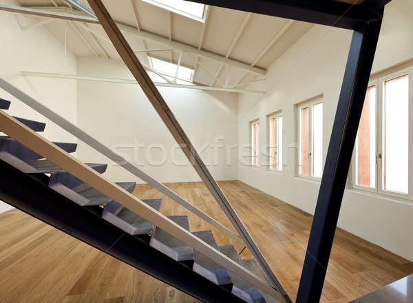 современных квартиру дизайна чердак дизайнера древесины Сток-фото © alexandre_zveiger