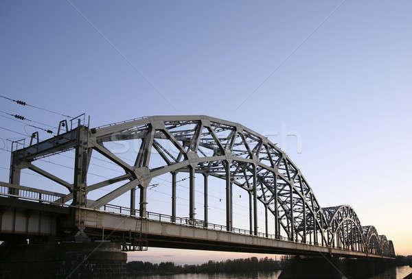 Hermosa puente Riga arquitectónico mar agua Foto stock © alexandre_zveiger