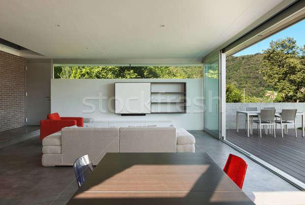 Interieur moderne huis woonkamer architectuur ontwerp stockfoto alexandre zveiger - Interieur modern huis ...