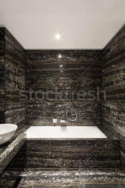 Wygodny łazienka nowoczesne domu wanna widoku Zdjęcia stock © alexandre_zveiger