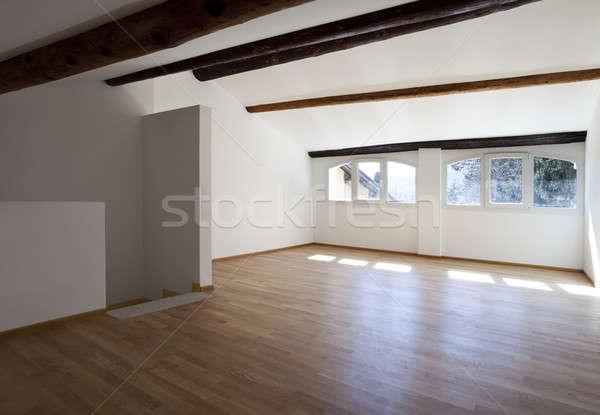 ストックフォト: インテリア · 素朴な · アパート · の空室
