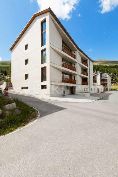 Photo stock: Montagne · extérieur · de · la · maison · vue · affaires · bâtiment