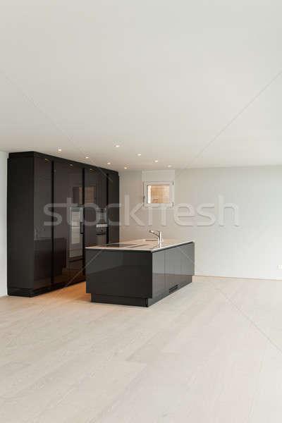 Mooie lege appartement moderne keuken Stockfoto © alexandre_zveiger