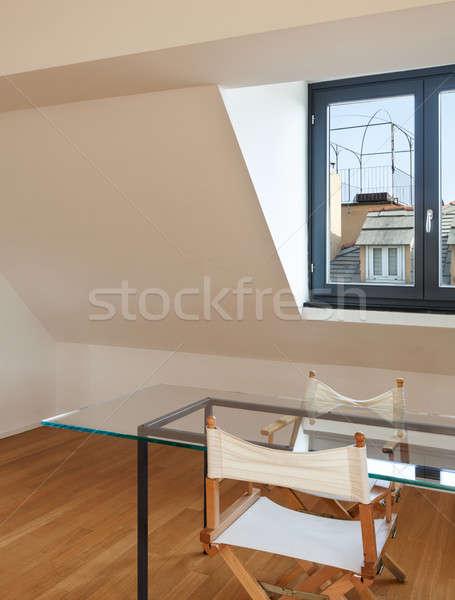 Intérieur architecture appartement belle grenier Photo stock © alexandre_zveiger