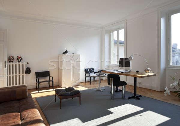 Vintage apartment furnished, studio Stock photo © alexandre_zveiger