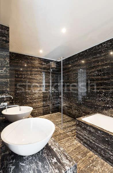 Interior, modern bathroom Stock photo © alexandre_zveiger
