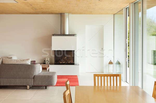 インテリア リビングルーム 山 家 近代建築 ホーム ストックフォト © alexandre_zveiger