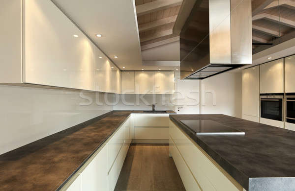 Moderno cucina elegante soffitta home tavola Foto d'archivio © alexandre_zveiger