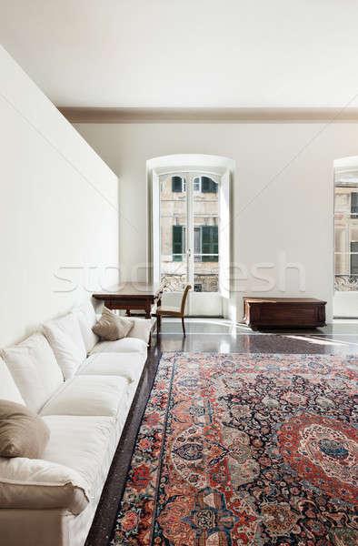 Interieur architectuur appartement mooie hotelkamer historisch Stockfoto © alexandre_zveiger