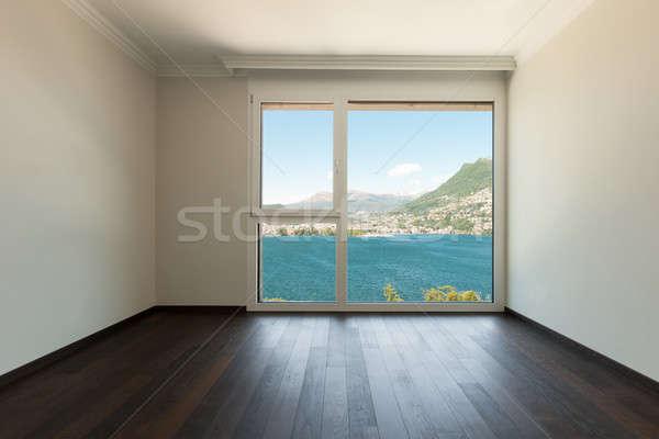 Interieur lege kamer venster moderne huis muur Stockfoto © alexandre_zveiger