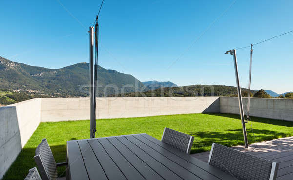 Modern house, outdoor Stock photo © alexandre_zveiger