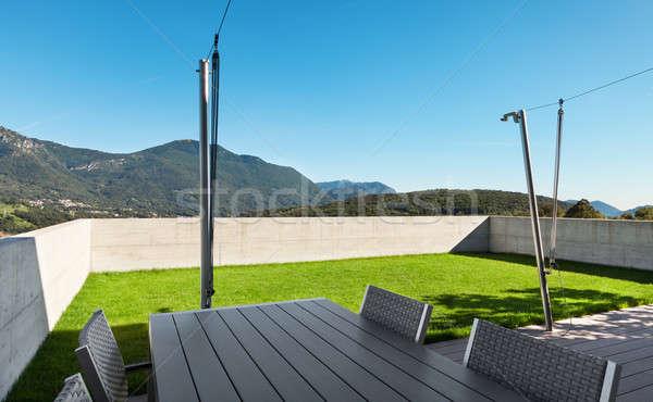 Modern house, outdoor Stock photo © alexandre_zveiger