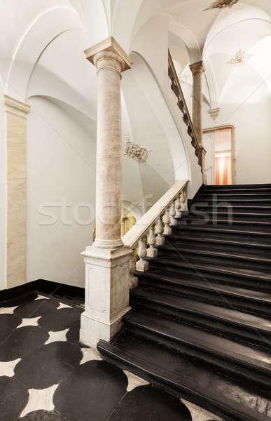 интерьер архитектура квартиру древних лестница классический Сток-фото © alexandre_zveiger