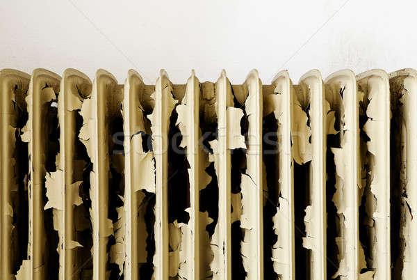捨てられた 家 アーキテクチャ 古い さびた ラジエーター ストックフォト © alexandre_zveiger