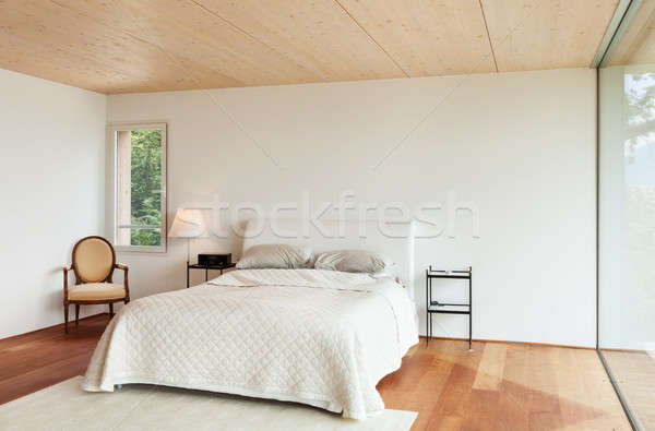 modern architecture, interior, bedroom Stock photo © alexandre_zveiger