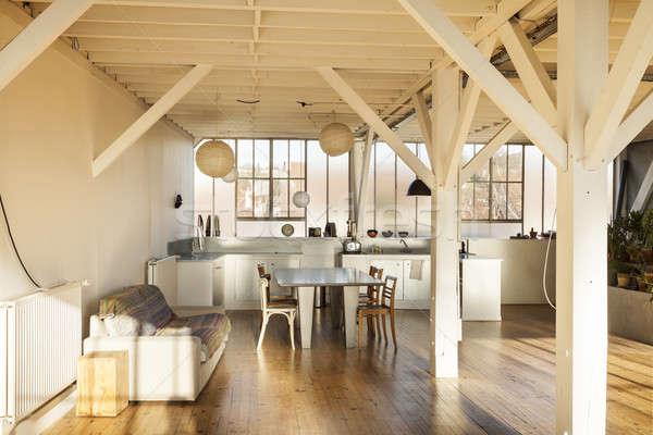 Vieux grenier intérieur large maison Photo stock © alexandre_zveiger