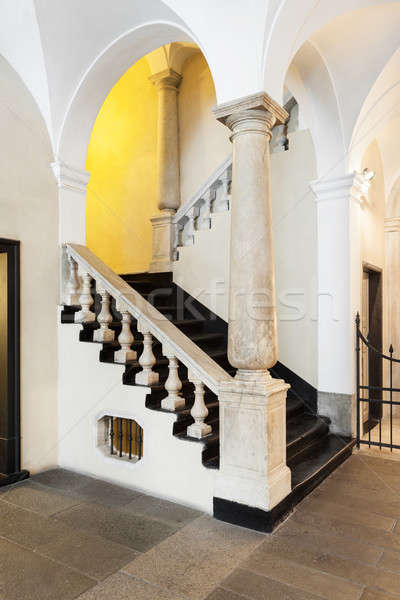 Great entrance of a italian historical building Stock photo © alexandre_zveiger