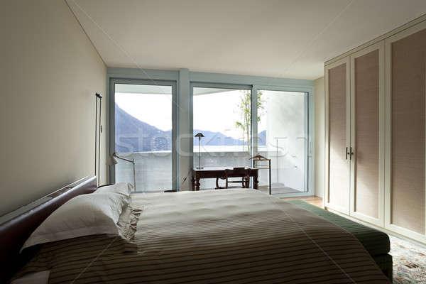 интерьер современных квартиру современный дома спальня Сток-фото © alexandre_zveiger