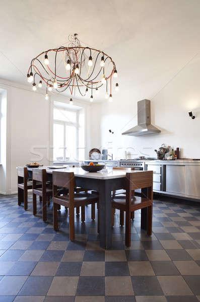Vintage apartment furnished, kitchen Stock photo © alexandre_zveiger