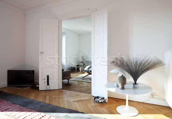 Vintage apartment furnished, living room Stock photo © alexandre_zveiger