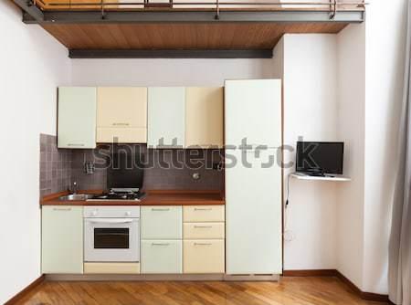 Stockfoto: Mooie · keuken · interieur · home · huiselijk · keuken · ruimte