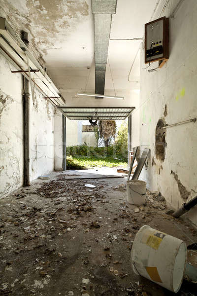 Terkedilmiş ev mimari Bina duvar uzay Stok fotoğraf © alexandre_zveiger