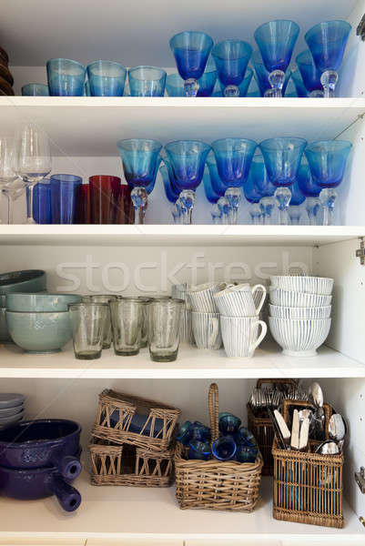 Coloured kitchen sideboard  Stock photo © alexandre_zveiger