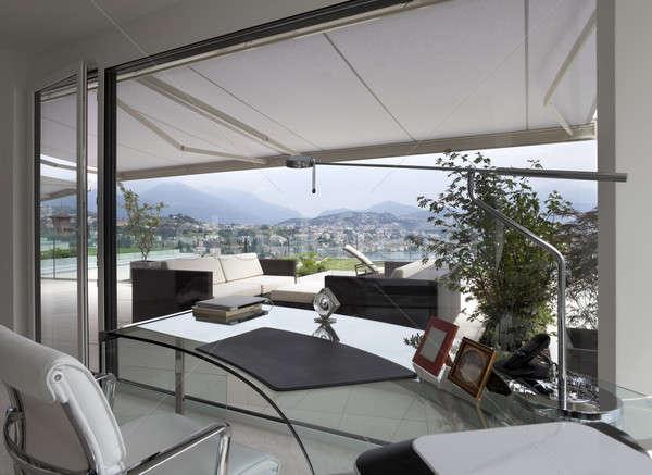 veranda of modern house stock photo alexandrezveiger 4991088