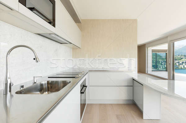 beautiful penthouse, domestic kitchen Stock photo © alexandre_zveiger