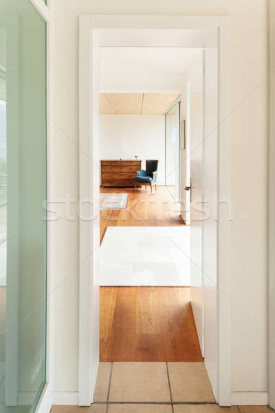 modern architecture, interior, room view from corridor Stock photo © alexandre_zveiger