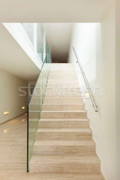 Interni marmo stair bella attico costruzione Foto d'archivio © alexandre_zveiger