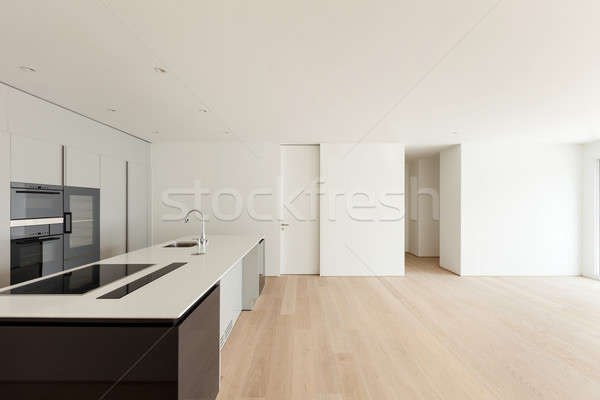 Interieur breed woonkamer keuken mooie lege Stockfoto © alexandre_zveiger