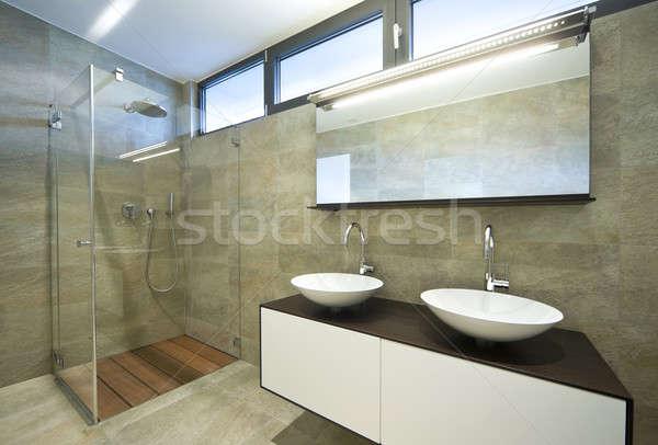 дизайна дома интерьер современных ванную Сток-фото © alexandre_zveiger