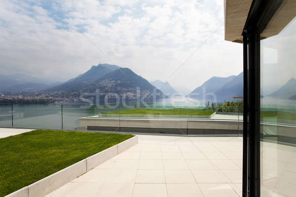 Buitenkant modern gebouw mooie moderne huis hemel Stockfoto © alexandre_zveiger