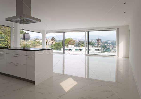 Keuken interieur moderne keuken huis home ruimte Stockfoto © alexandre_zveiger