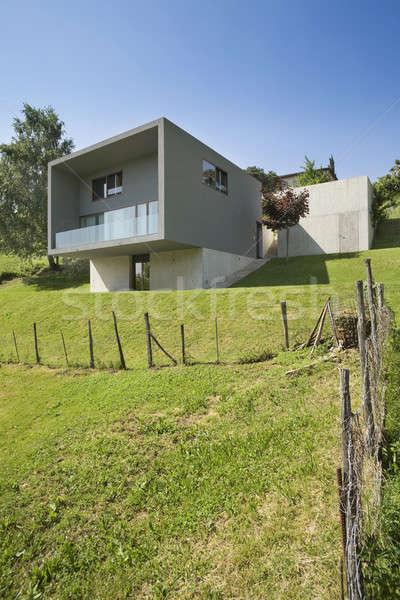 Esterno stile moderno villa moderno casa natura Foto d'archivio © alexandre_zveiger