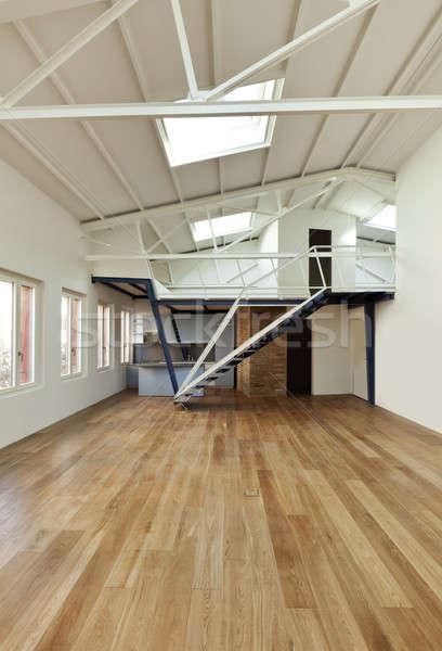 Modernes appartement design grenier designer bois Photo stock © alexandre_zveiger