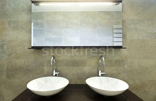 Ontwerp huis interieur moderne badkamer Stockfoto © alexandre_zveiger