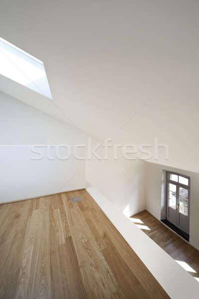Moderno apartamento projeto sótão arquitetura vazio Foto stock © alexandre_zveiger