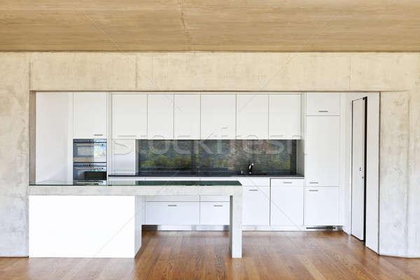 Moderne beton huis keuken Stockfoto © alexandre_zveiger