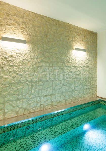 Interieur detail zwembad architectuur moderne vliering Stockfoto © alexandre_zveiger