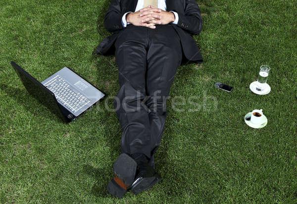 businessman relaxing Stock photo © alexandre_zveiger