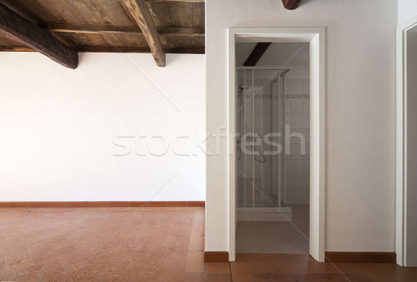 Stockfoto: Interieur · klassiek · rustiek · appartement · lege · kamer